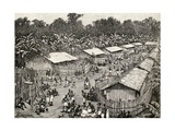 View of Utiri Village, Tanzania, 1890 Giclee Print by Amedee Forestier