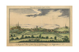 Perspective View of the City of Lichfield, C.1795-98 Giclee Print
