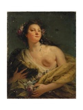 Portrait of a Lady as Flora Giclee Print by Giovanni Battista Tiepolo