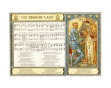The Spanish Lady', Song Illustration from 'Pan-Pipes', a Book of Old Songs, Newly Arranged and… Giclee Print by Walter Crane