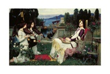 St. Cecilia Giclee Print by John William Waterhouse