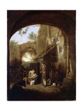 Figures in the Courtyard of an Old Building Giclee Print by Cornelis Dusart