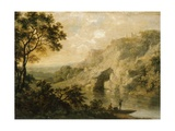 Landscape with Fishermen, C.1750 Giclee Print by George, of Chichester Smith