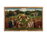 Hubert & Jan Van Eyck - The Adoration of the Mystic Lamb, from the Ghent Altarpiece, Lower Half of Central Panel, 1432 - Giclee Baskı