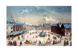 View of Liebfrauenberg Square in Winter, Frankfurt Am Main, 1738 Giclee Print by Salomon Kleiner