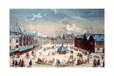 View of Liebfrauenberg Square in Winter, Frankfurt Am Main, 1738 Giclee Print by Salomon Kleiner