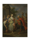 Eliezer and Rebecca at the Well Giclee Print by Balthasar Beschey
