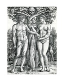 The Fall of Adam and Eve, C.1525-27 Giclee Print by Hans Sebald Beham