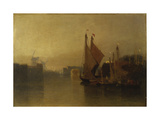 View from Yarmouth Bridge Giclee Print by John Sell Cotman