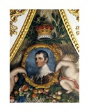 Portrait of the 5th Duke of Rutland, Ceiling of the Elizabeth Saloon Giclee Print by Matthew Cotes Wyatt