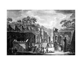 View of the Temple of Isis, Pompeii, Engraved by Francesco Piranesi, 1788 Giclee Print by Louis Jean Desprez