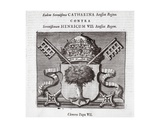 The Arms of Pope Clement Vii, Illustration from 'Acts and Monuments' by John Foxe, Ninth Edition,… Giclee Print