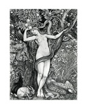 The Tempation of Eve Giclee Print by Walter Crane