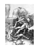 Cain Killing Abel, 1529 Giclee Print by Lucas van Leyden