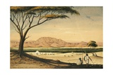 Jibul Afrubba and the Mooloo Plain from Borduda, 1841 Giclee Print by Rupert Kirk