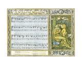 O Willow, Willow', Traditional English Folk Song, Illustration from 'Pan-Pipes', a Book of Old… Giclee Print by Walter Crane