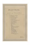 List of Characters, C.1920s Giclee Print by Joseph Clayton Clarke