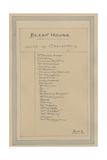 List of Characters, C.1920s Lámina giclée por Joseph Clayton Clarke