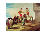 The Stilts, C.1791-92 Giclee Print by Francisco de Goya