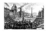 View of the Piazza Navona, from the 'Views of Rome' Series, C.1760 Giclee Print by Giovanni Battista Piranesi