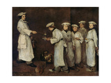 Kitchen Scene Giclee Print by Auguste Theodule Ribot