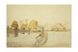 Bagh I Delacour Khan, Srinagar, Kashmir, C.1836 Giclee Print by Godfrey Thomas Vigne