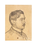 Portrait of Maurice Maeterlinck Giclee Print by Théo van Rysselberghe