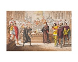 Shylock Speaks in the Merchant of Venice, Act IV, Scene I, 'Is That the Law', from 'The… Giclee Print by Robert Dudley