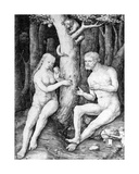 Adam and Eve, C.1506 Giclee Print by Lucas van Leyden