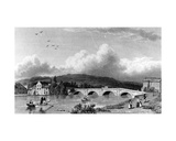 Strammongate Bridge, Kendal, Engraved by E. Finden, 1830 Giclee Print by William Westall