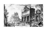 View of the Fontana Dell'Acqua Felice with the Church of Santa Maria Della Vittoria Behind, from… Giclee Print by Giovanni Battista Piranesi