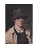 Self Portrait Giclee Print by Théo van Rysselberghe