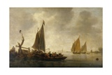 River Scene Giclee Print by Willem van Diest