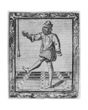 Courtly Dancer, Illustration from 'Nuvone Inventioni Di Balli' by Cesare Negri, Print Made by… Giclee Print by Giovanni Mauro della Rovere