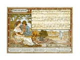The Passionate Shepherd to His Love', Song Illustration from 'Pan-Pipes', a Book of Old Songs,… Gicléedruk van Walter Crane
