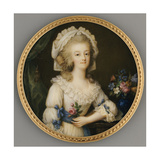 A Fine and Important Miniature of Queen Marie-Antoinette, C.1780-85 Giclee Print by Ignace Jean Victor Campana