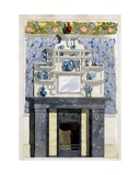 Fireplace with Mirror and Display Shelves in the Aesthetic Style, C.1870s Giclee Print by Thomas Jeckyll
