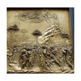 Moses with the Tablets of Law. Gates of Paradise. Baptistry. Florence. Italy Giclee Print
