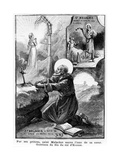 St Malachy Praying for the Soul of His Sister Giclee Print