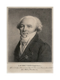 Portrait of Baron Claude Pierre Bouvier, Engraved by Jean-Henry Marlet (1771-1847) Giclee Print by Louis Leopold Boilly