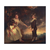 Susannah, Philip Lake, and Maria Godsal: the Godsal Children, 1789 Giclee Print by John Hoppner