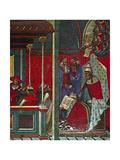 Pope Honorius III Approving the Carmelite Rule by Lorenzetti Giclee Print