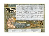 The Three Ravens', Song Illustration from 'Pan-Pipes', a Book of Old Songs, Newly Arranged and… Giclee Print by Walter Crane