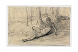Studies for 'The Bather' Giclee Print by Jean-François Millet