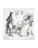 The Efforts of His Aunt', Illustration from 'Pride and Prejudice' by Jane Austen, Edition… Giclee Print by Hugh Thomson
