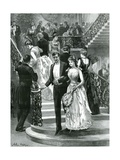 Going Down to Supper. My First Ball Gicleetryck av Hopkins, Arthur