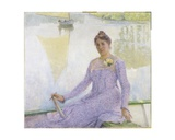 Portrait of the Artist, Anne De Weert, 1899 Giclee Print by Emile Claus
