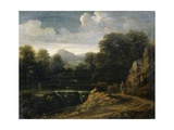 Campagna Landscape, C.1660 Giclee Print by Gaspard Poussin Dughet