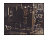 The Studio of the Painter Jules Lambeaux, 1885 Giclee Print by Charles Mertens