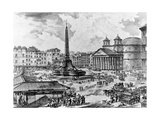 View of the Piazza Della Rotonda, from the 'Views of Rome' Series, C.1760 Giclee Print by Giovanni Battista Piranesi